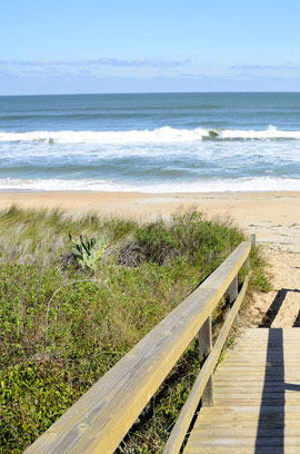 The beautiful sandy shores just minutes from our St. Augustine resort rentals.