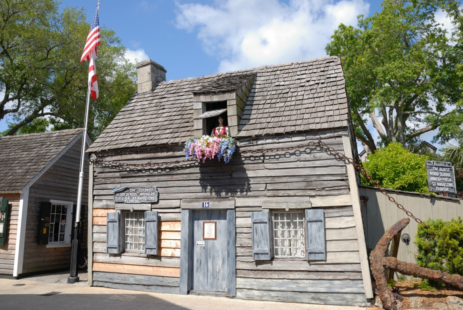 St Augustine Oldest Wooden Schoolhouse In America The
